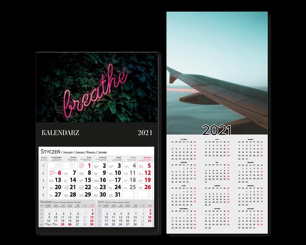 Kalendarze jednoplanszowe