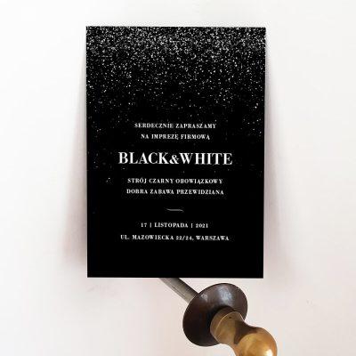 Zaproszenie_impreza_firmowa_biały nadruk_czarny papier_druk24h