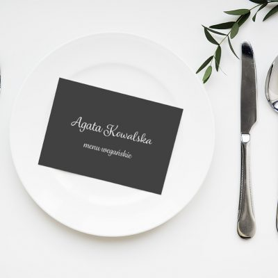 Paper card design space on aplate mockup
